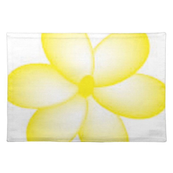 Yellow and White Hawaiian Plumeria Placemat