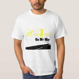 """Yellow and White """"Healed on my Way"""" Shirt"""