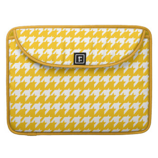 Yellow and white houndstooth MacBook pro sleeves