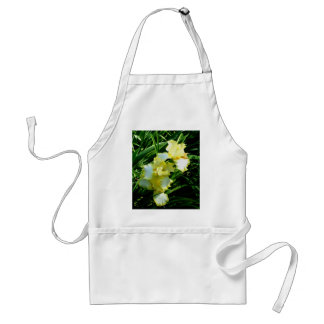 Yellow and White Iris Flower Adult Apron