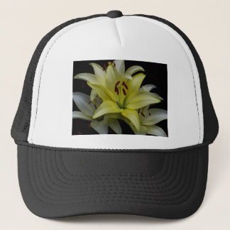 Yellow and White Lilies Trucker Hat