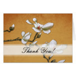 Yellow and White Magnolia Thank you Card