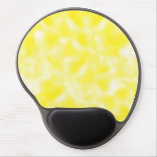 Yellow and White Mottled Gel Mouse Pads