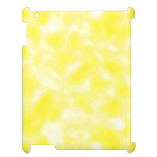 Yellow and White Mottled iPad Case