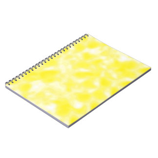 Yellow and White Mottled Notebook