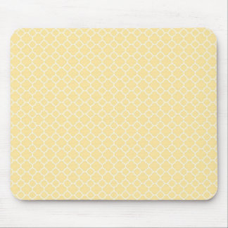 Yellow and White Mouse Pad