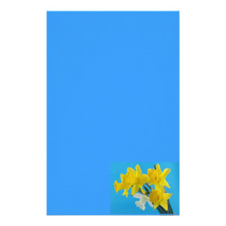 Yellow and White Narcissus Daffodils Stationery