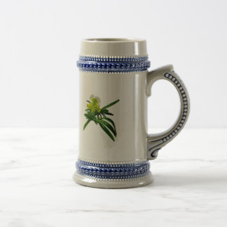Yellow and White Paphiopidilum Orchid Coffee Mug