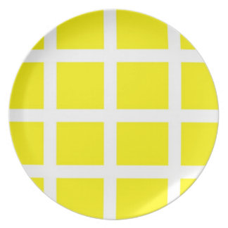 Yellow and White Plate