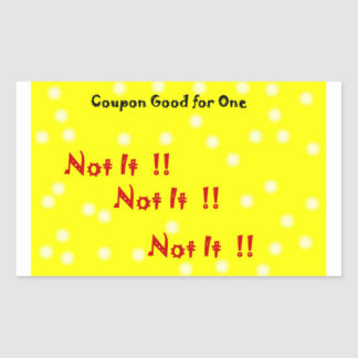 Yellow and white polka dot Not It sticker coupon
