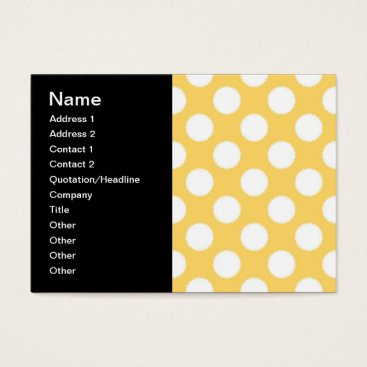 Beach Themed Yellow and White Polka Dots Business Card