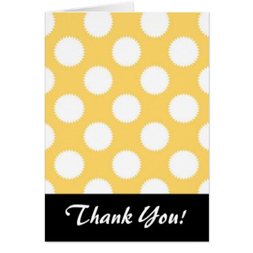 Beach Themed Yellow and White Polka Dots Card