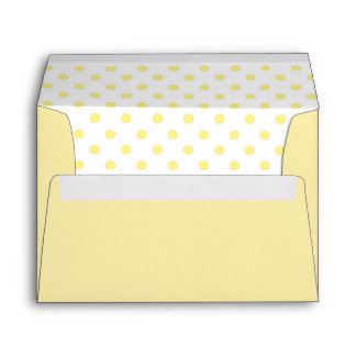 Yellow and White Polka Dots Envelope