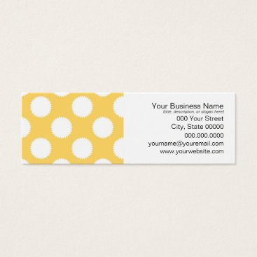 Beach Themed Yellow and White Polka Dots Mini Business Card