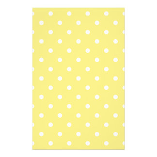 Yellow and White Polka Dots Pattern. Flyer