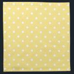 "Yellow and White Polka Dots Pattern. Napkin<br><div class=""desc"">A pattern of polka dots in yellow with white dots.</div>"