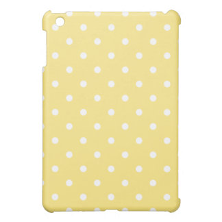 Yellow and White Polka Dots Pern. iPad Mini Covers