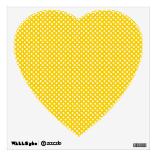 Yellow and white polka dots wall decal