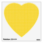 Yellow and white polka dots wall sticker
