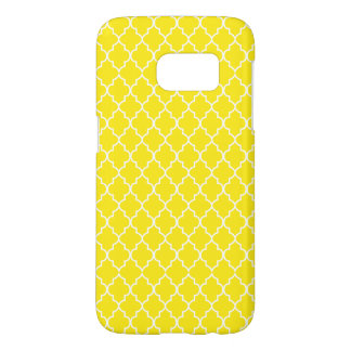 Yellow and White Quatrefoil Seamless Pattern Samsung Galaxy S7 Case