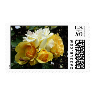 Yellow and White Roses Postage