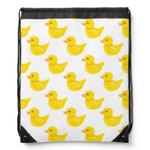Yellow and White Rubber Duck, Ducky Drawstring Bag