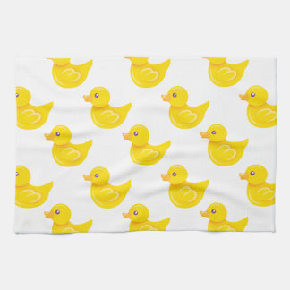 Yellow and White Rubber Duck, Ducky Kitchen Towel