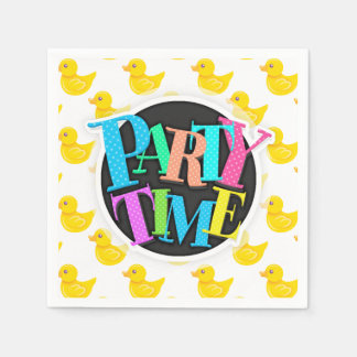 Yellow and White Rubber Duck, Ducky Paper Napkin