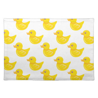 Yellow and White Rubber Duck, Ducky Place Mat