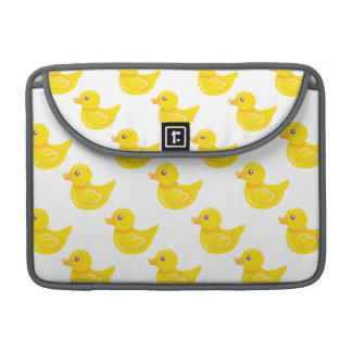 Yellow and White Rubber Duck, Ducky Sleeve For MacBooks