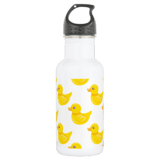 Yellow and White Rubber Duck, Ducky Stainless Steel Water Bottle