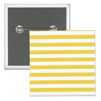 Yellow and White Stripe Pattern Button