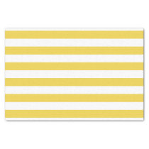 Yellow and White Stripe Pattern Tissue Paper
