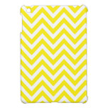 Yellow and White Stripe Zigzag Pattern iPad Mini Cases