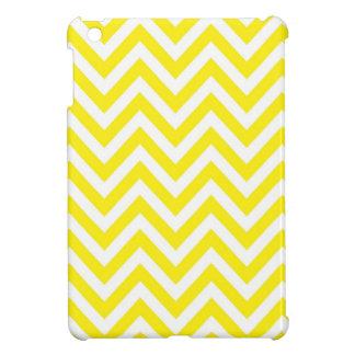 Yellow and White Stripe Zigzag Pattern iPad Mini Cases