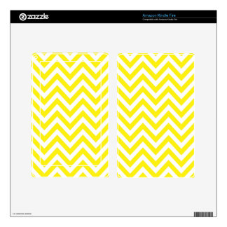 Yellow and White Stripe Zigzag Pattern Skins For Kindle Fire