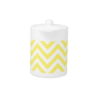 Yellow and White Stripe Zigzag Pattern