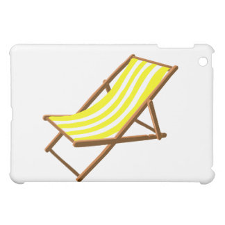 yellow and white striped wooden beach chair.png cover for the iPad mini