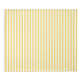 Yellow And White Stripes Pattern Duvet Cover at Zazzle
