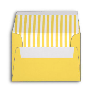 Yellow and White Stripes Pattern Envelope