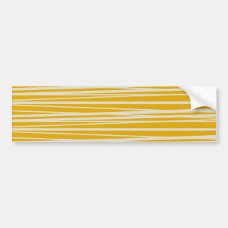 Yellow and White Stripes Pattern Gifts Bumper Sticker