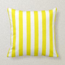 Yellow and White Stripes Pillow