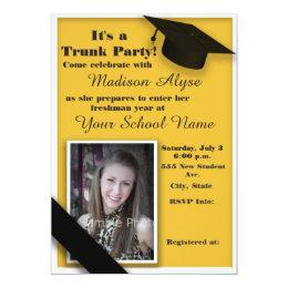 College Trunk Party Invitations Announcements Zazzle