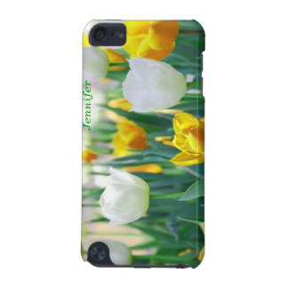 Yellow and White Tulips Flower iPod Case