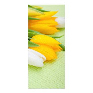 Yellow and white tulips invitations