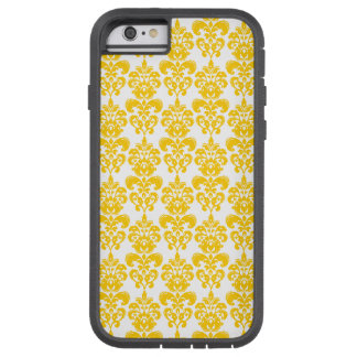 Yellow and White Vintage Damask Pattern 2 Tough Xtreme iPhone 6 Case