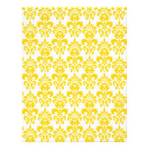 Yellow and White Vintage Damask Pattern 2 Flyer