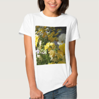 Yellow and White Violas T-shirts