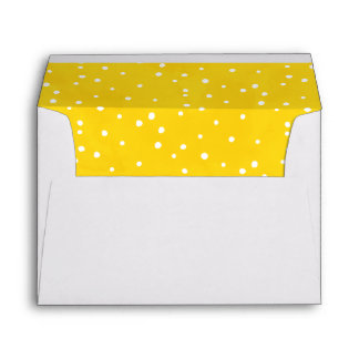 Yellow and White Watercolor Dots Envelope
