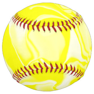 Yellow and White Waves Softball